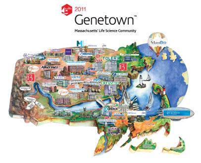 Genetown Map