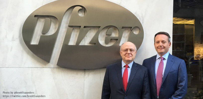 Pfizer Announces Merger Structure and Top Executives Team