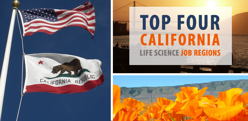 Top Four California Life Science Job Regions