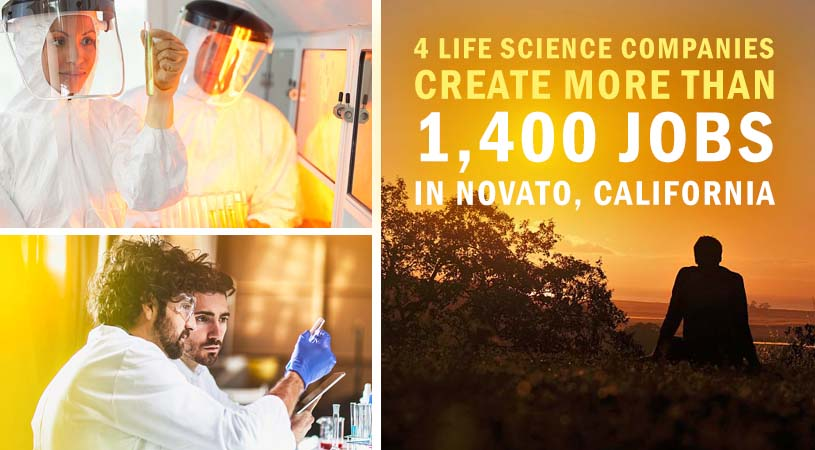 4 Life Science Companies Create More Than 1,400 Jobs in Novato, California