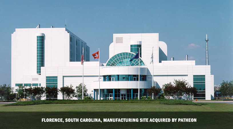 Patheon Takes Over Roche's South Carolina Facility, Saving 200 Jobs